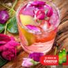 agua de rosas con cítricos