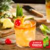 cóctel de coco con piña y tequila