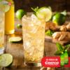 Bebida limón jengibre y menta
